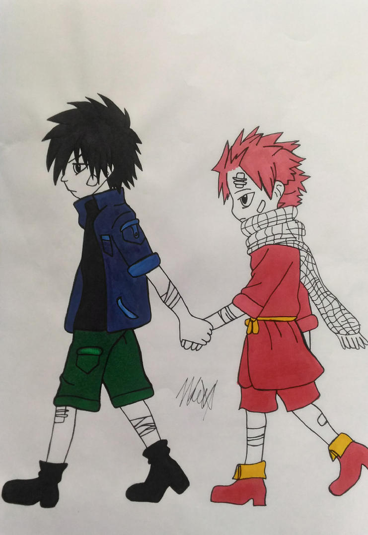 Gray and Natsu, kids - Fairy Tail by mishoka303 on DeviantArt
