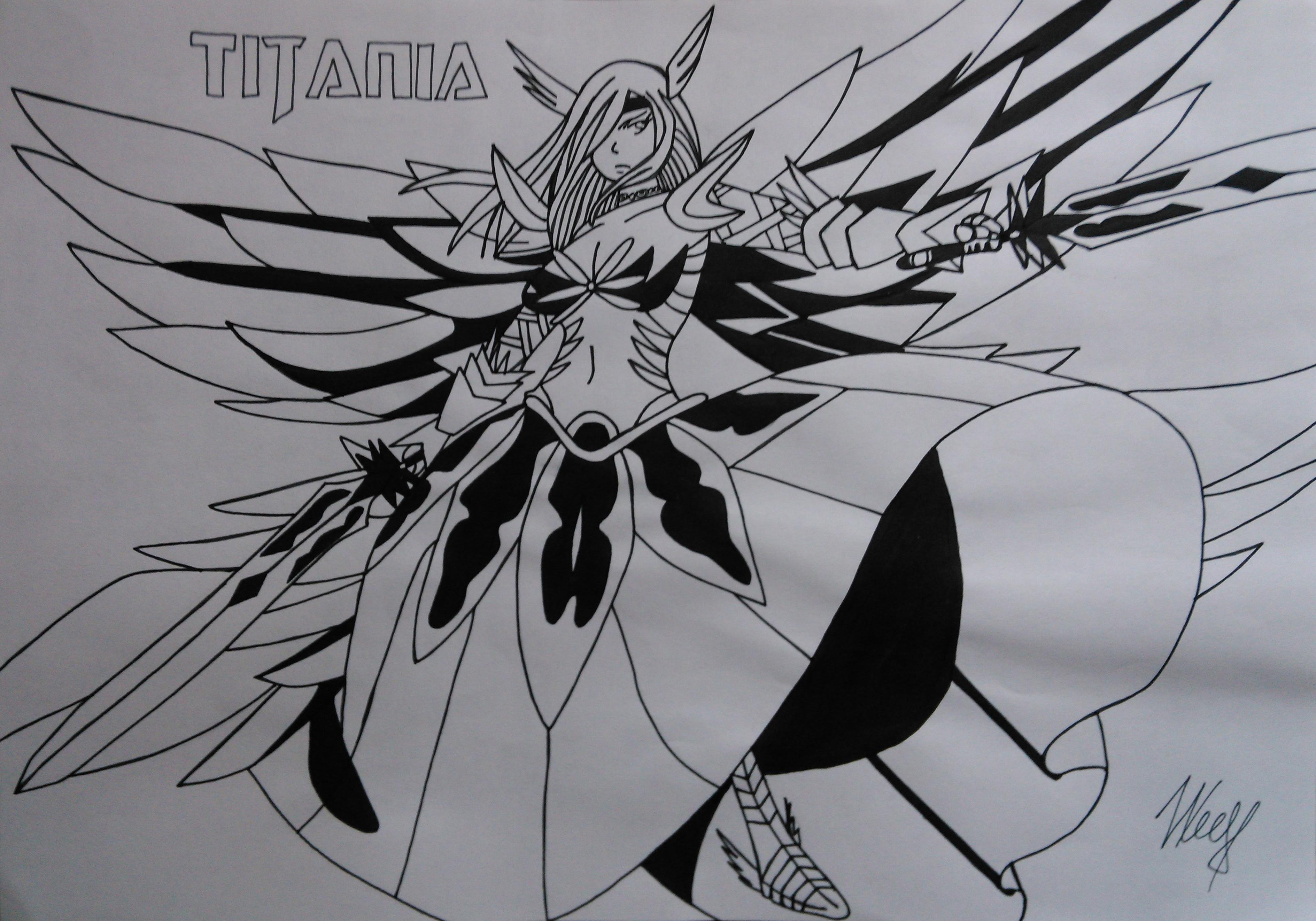 Erza Scarlet, Titania - Fairy Tail by mishoka303 on DeviantArt