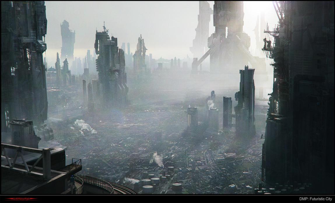 Matte Painting - Futuristic City by KAMINARIVFX
