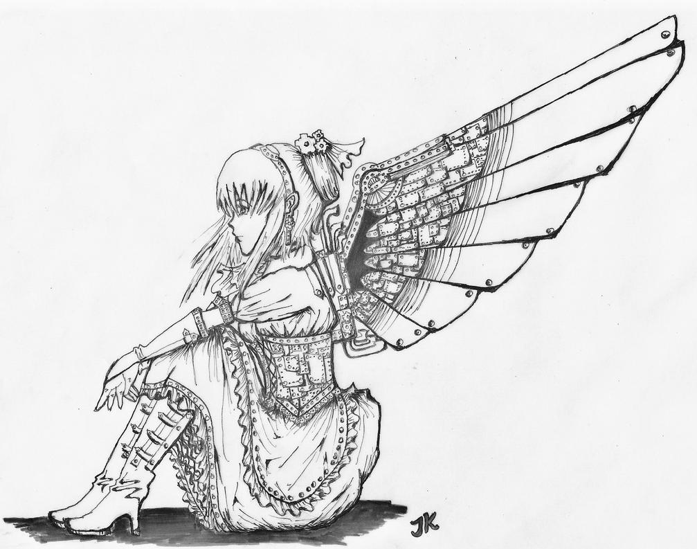 .:Steampunk Angel:. by scaryrabidfangirl