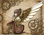 .:Steampunk Angel - Colored:.