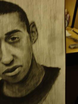 Self portrait in charcoal pt2