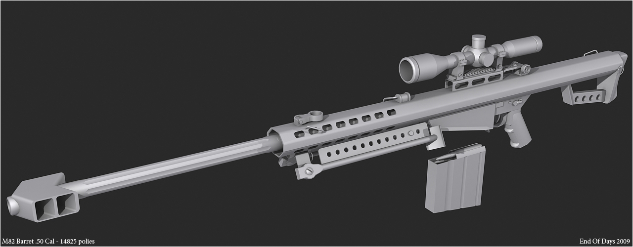 M82 Barret .50 Cal 3rd render by EoD19 on DeviantArt