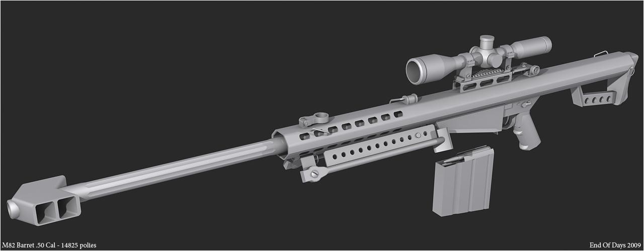 M82 Barret .50 Cal 3rd render by EoD19 on DeviantArt