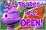 Spyro: Art Trades Open button by RadSpyro