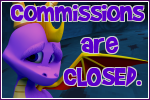 Spyro Commissions Closed button by RadSpyro