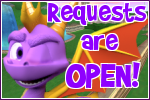 Spyro Requests Open button by RadSpyro