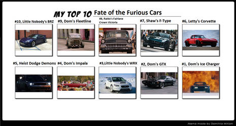 My Top 10 Fate of the Furious cars by Muscle-Tone-01