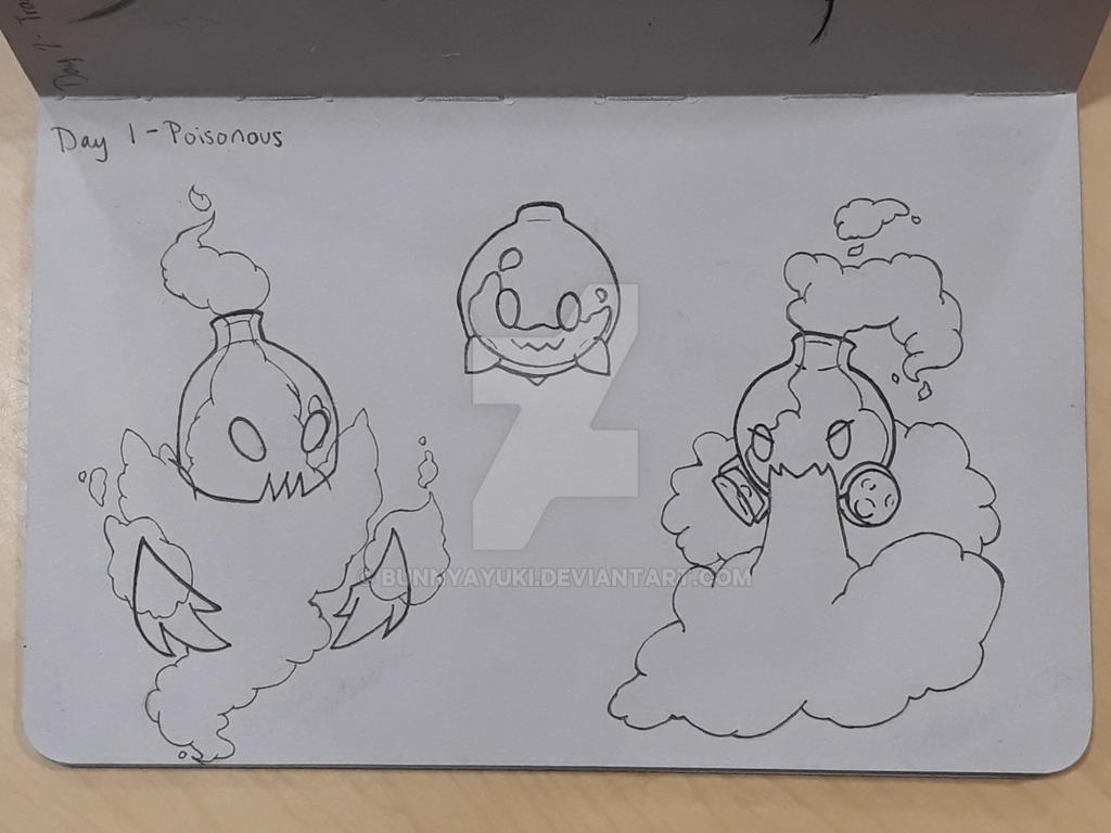 Inktober - Day 1: Poisonous by BunnyAyuki