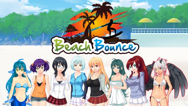 Girls of Beach Bounce Visual Novel by Dharker