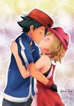 Satoshi and Serena Kiss /Pokemon XYZ