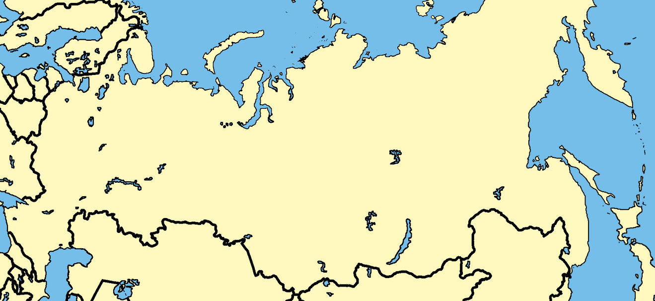 Blank Map Of Central And West Russia By KaradzicsBlankMaps On - Blank map of russia