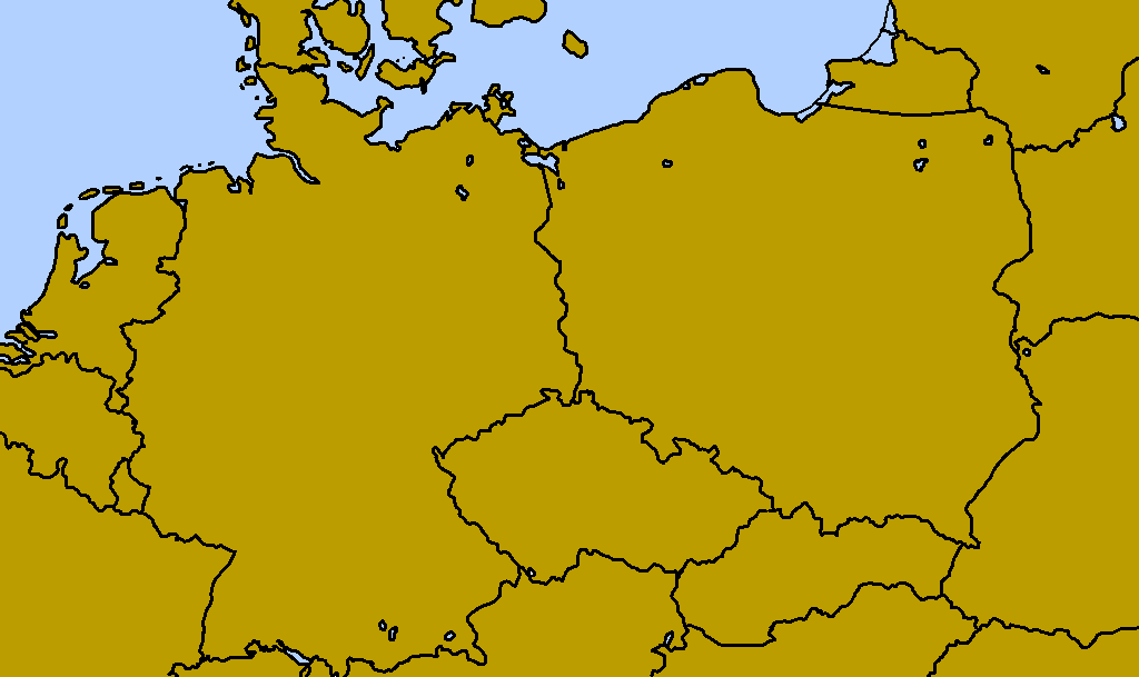 Blank Map Of Poland And Germany By Karadzicsblankmaps On