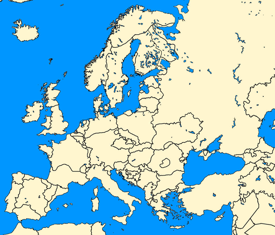 on detailed map of europe