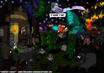 Yogscast-fanart Trouble in Yogtown (Minecraft) by RobmanCartoons