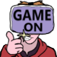 Game On emote by RobmanCartoons