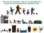 My Brainlings Art, Five City Game Jam (Sep, 2018) by RobmanCartoons
