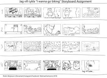 Jag Vill Cykla- Storyboards (Dec, 2018) by RobmanCartoons