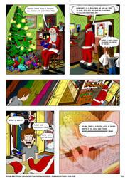 Christmas Comic, page 3/3 (Dec 2018-Jan 2019) by RobmanCartoons