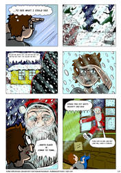 Christmas Comic, page 2/3 (Dec 2018-Jan 2019) by RobmanCartoons