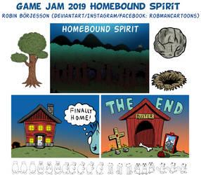 Game Jam Homebound Spirit Art (Jan, 2019) by RobmanCartoons