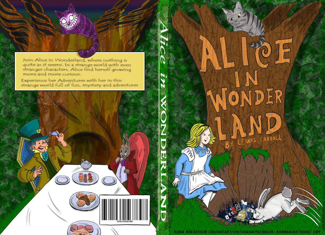 Alice in Wonderland Bookcover Design (March, 2019) by RobmanCartoons
