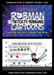 RobmanCartoons + Twitch/Robman92 business card