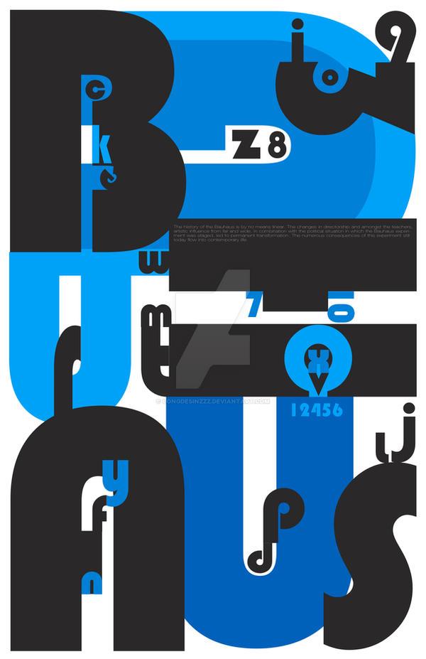 BAUHAUS Font Poster by longdesinzzz