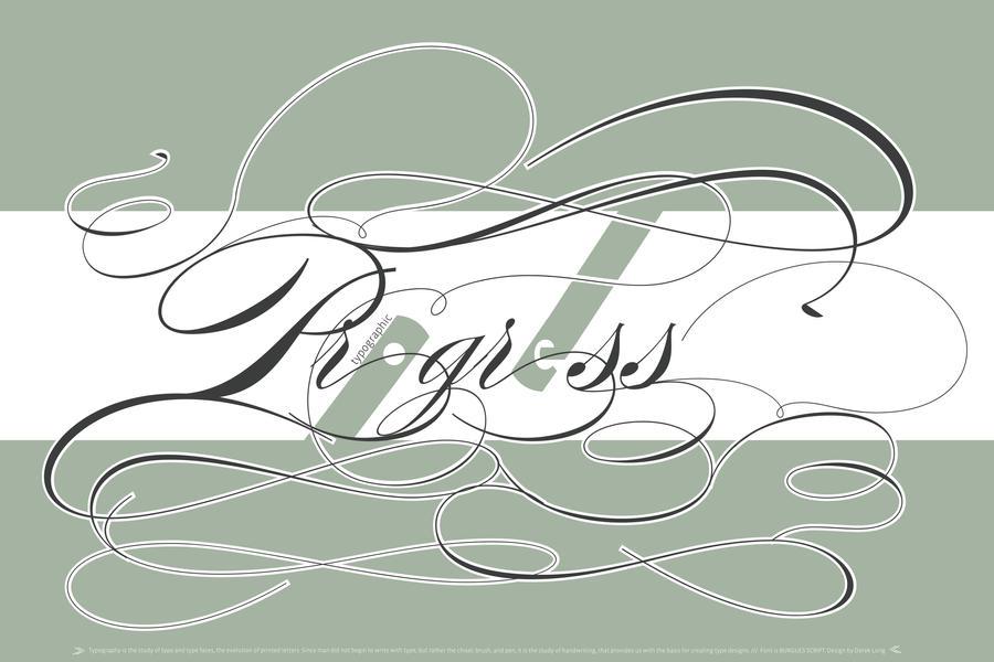 Typographic Progress by longdesinzzz