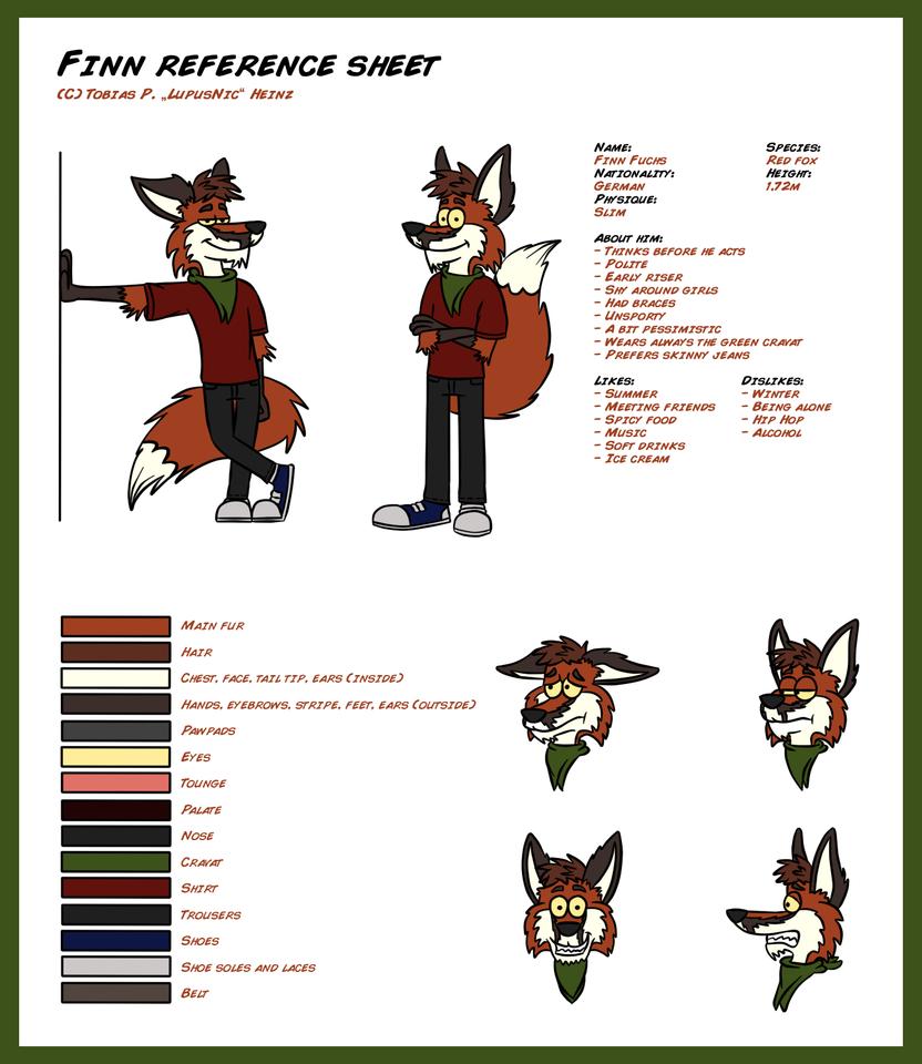 Finn Reference Sheet by Floyd-Kangaroo