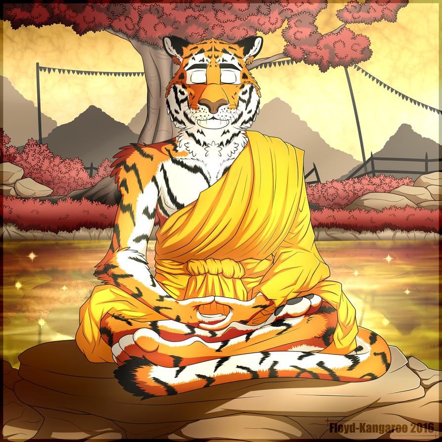 Meditating Tiger by Floyd-Kangaroo