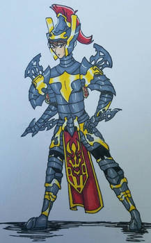 Brave in Armor as Human made by bleedingwings12