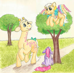 My Little Pony - Ringlet, Creamsicle, and Ember by Kohala8