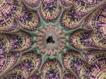 Mini Mandelbrot in fractal tapestry