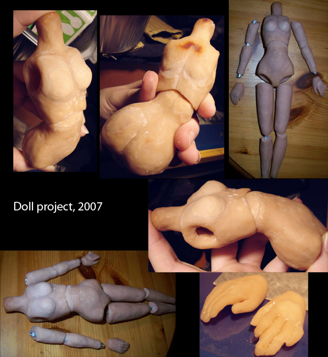 Sculpey doll body by Dagger-teh