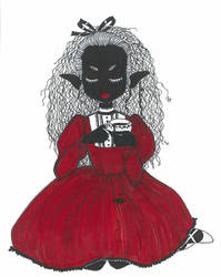 Pernilla drinks tea.. by Dagger-teh