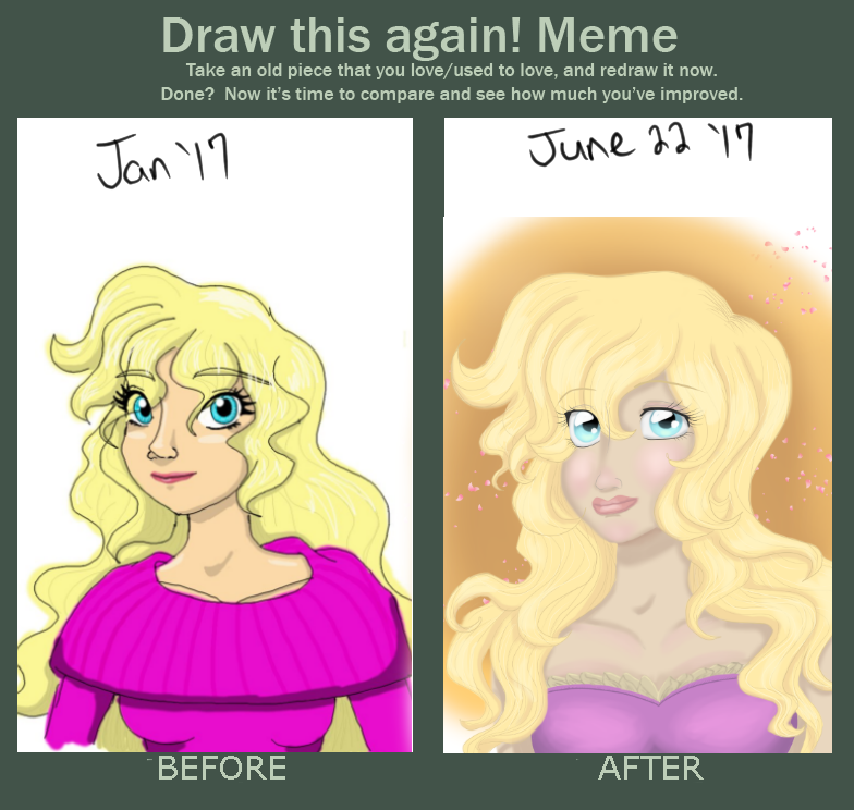 6ish Month Improvement Meme by Galaxas