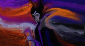 Si Edvard Munch hubiese pintado a Malefica