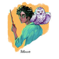 Harry Potter and Hedwig by Rory221B