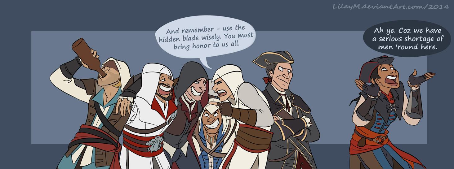 Connor And Haytham Fanfiction Welcome to the family ...