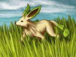 Leafeon in the Grass