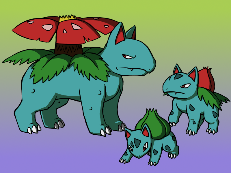 The Bulbasaur Family by BlazeDGO