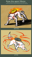 Before and After: Amaterasu by BlazeDGO