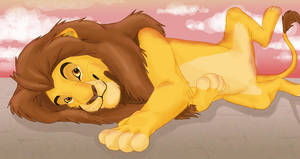 Mufasa sprawls out by Azerane