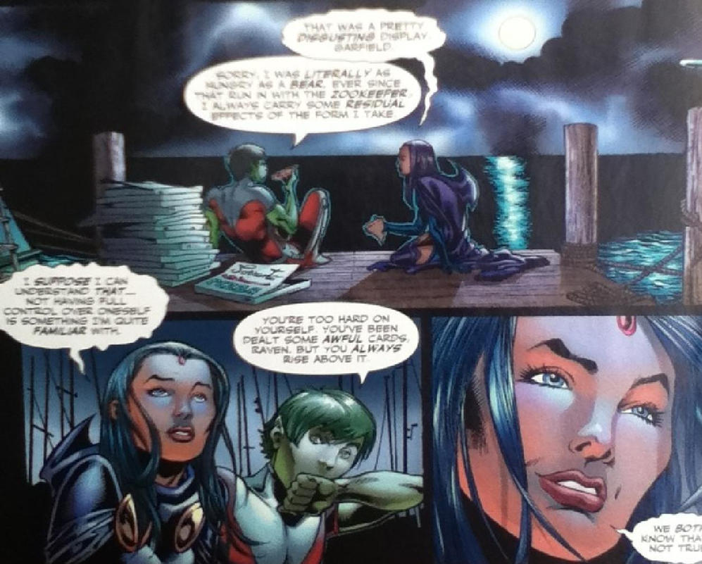 beastboy and raven relationship in comics