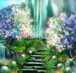 Stairway to summer by PunainenTaiteilija