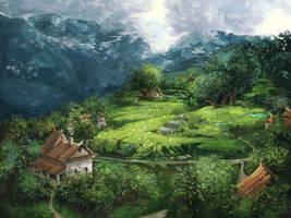 Village by PunainenTaiteilija