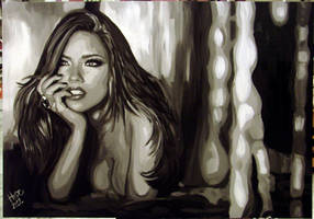 Adriana Lima Victoria Secret Model Painting by HopeChahine