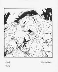 Hulk Vs. Hager card by MarkIrwin
