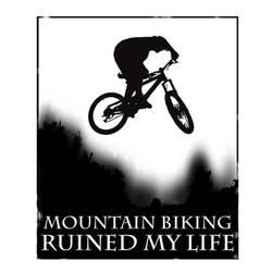 Mountain biking t-shirt by MarkIrwin